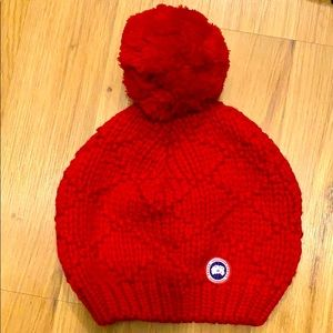 Canada Goode red knit winter hat